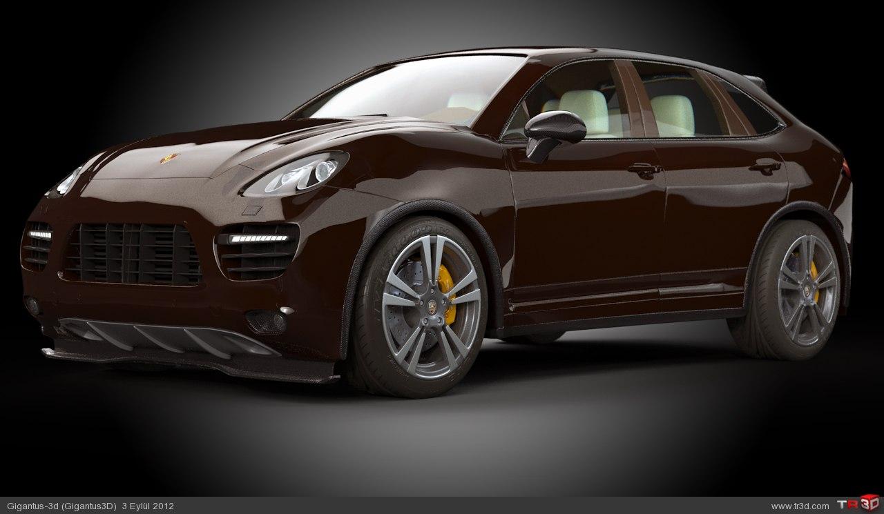 Stüdyo Render - Porsche Cayenne Turbo 3