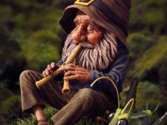 Gnome With Grasshopper